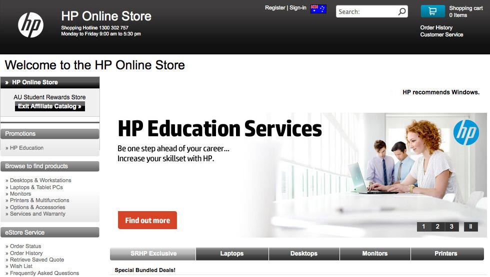 thepixelroom com | Extras | Hewlett-Packard Online Store web